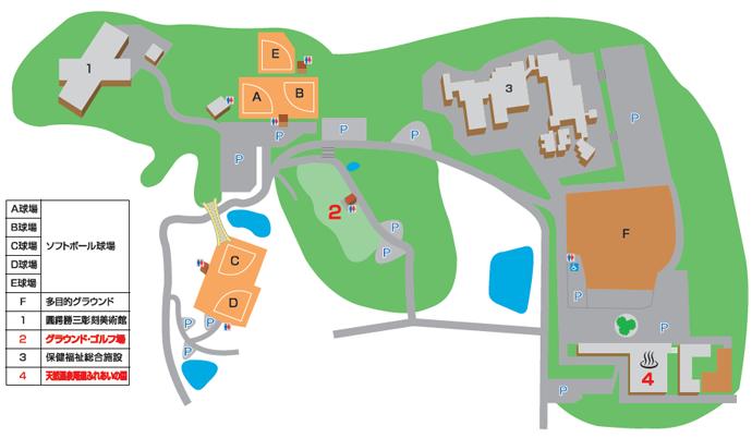 グラウンドゴルフ場地図